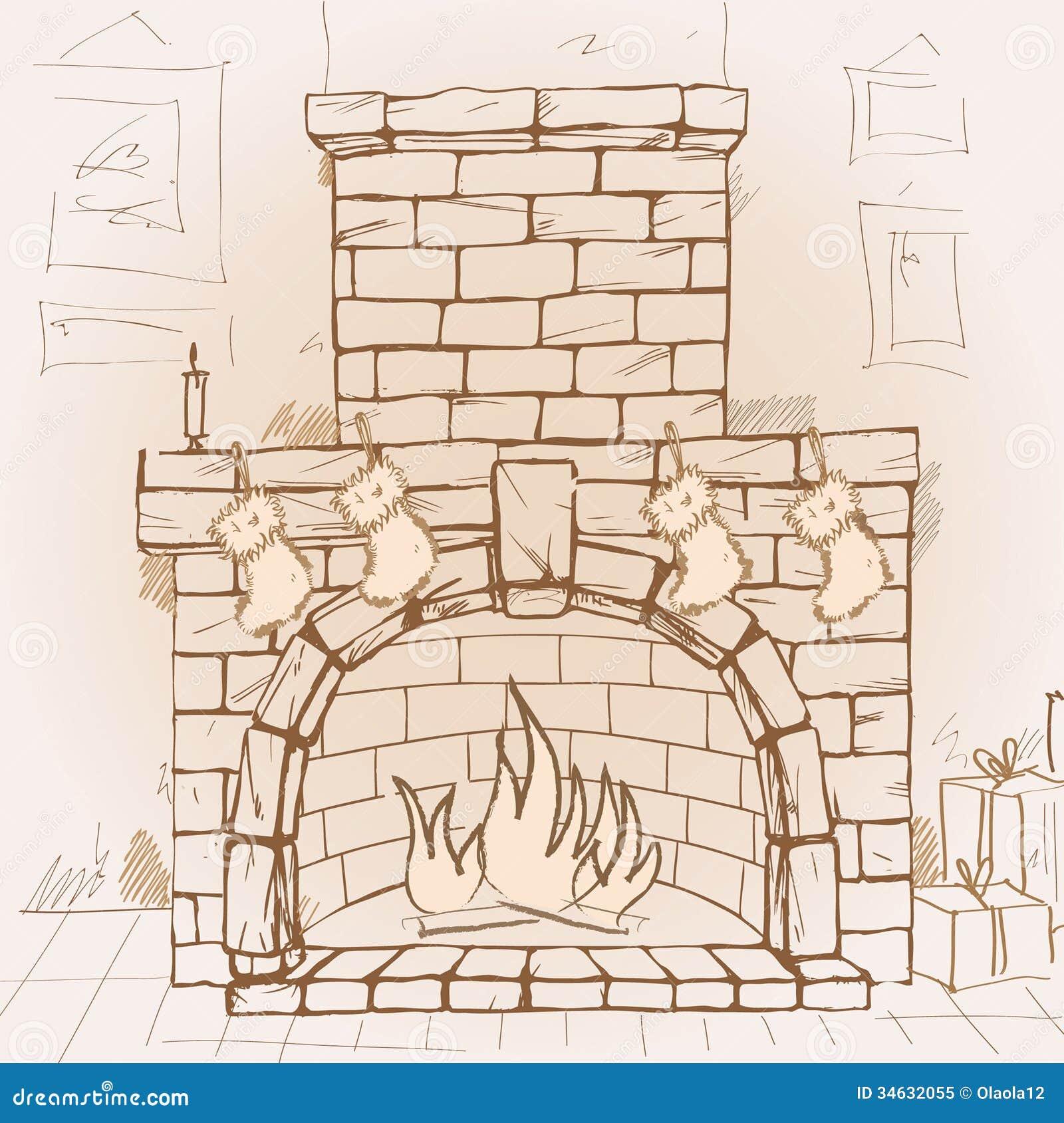 Fireplace Royalty Free Stock Photo - Image: 34632055
