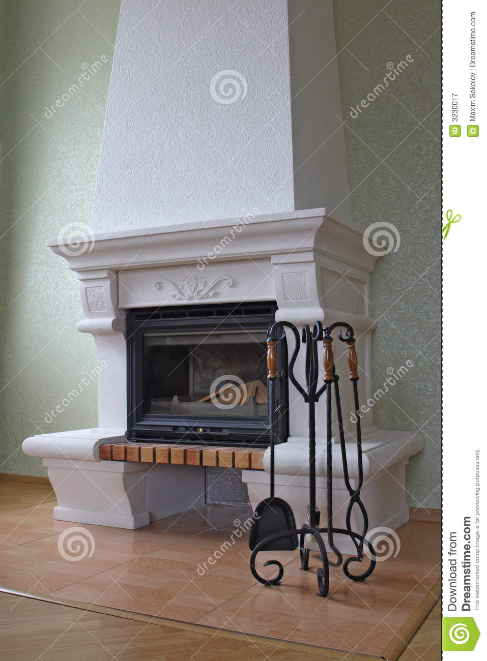 Fireplace Without Fire Stock Image Image Of Room Fireplace 3230017