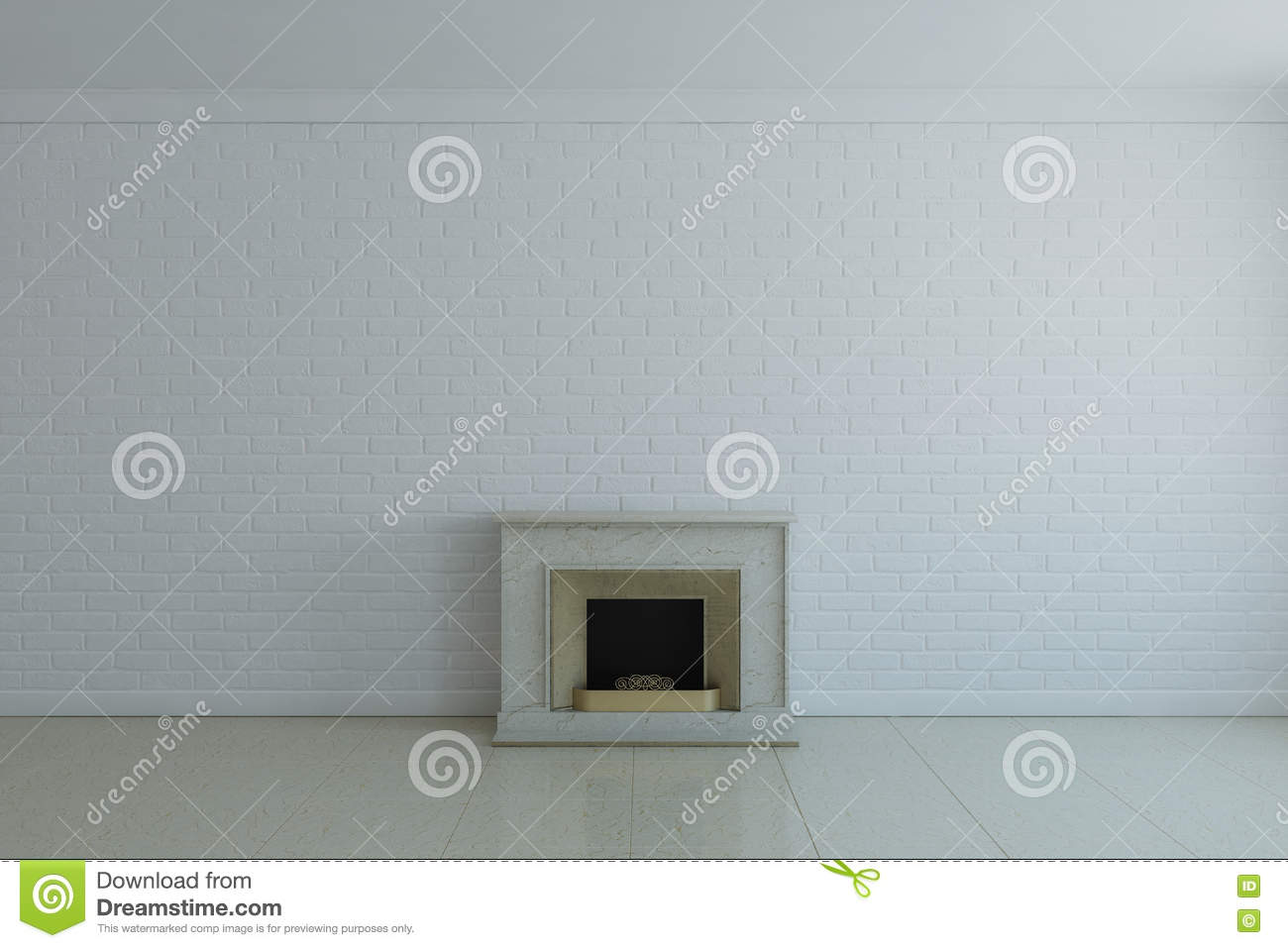 Fireplace Without Fire Stock Illustration Illustration Of City