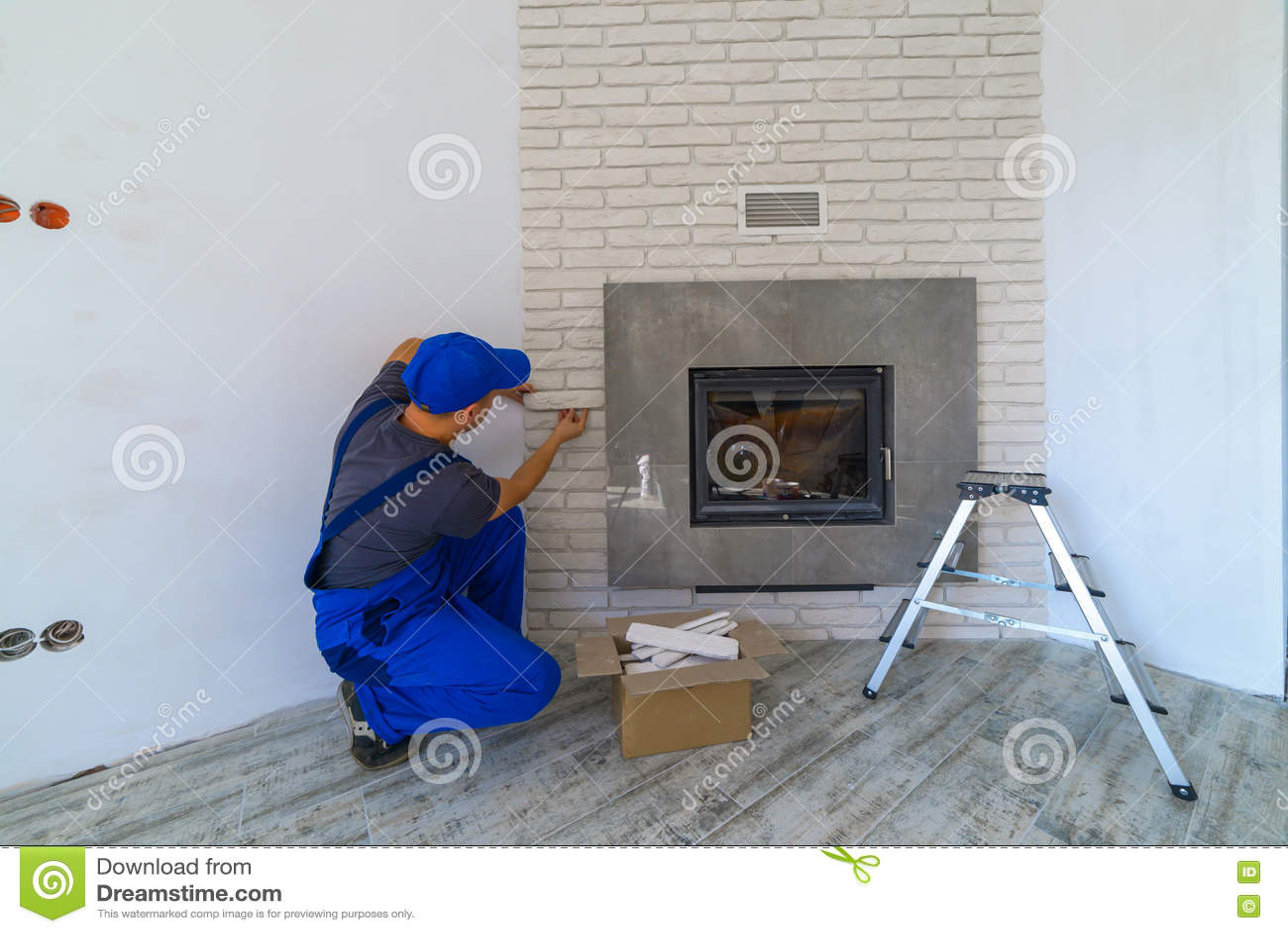 Fireplace Stock Photo Image 74314932