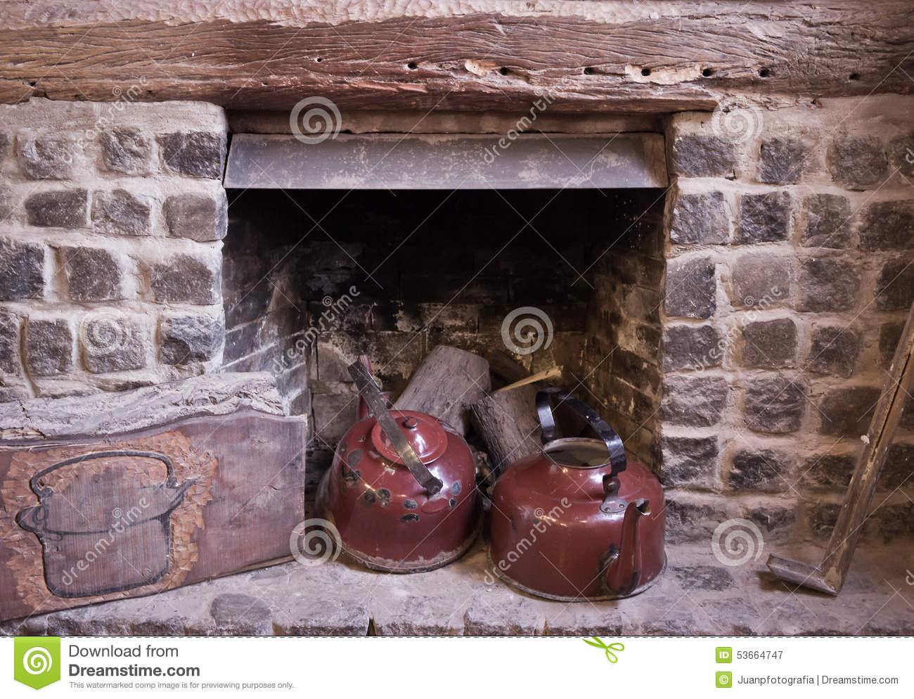 fireplace kettle stock photo image 53664747