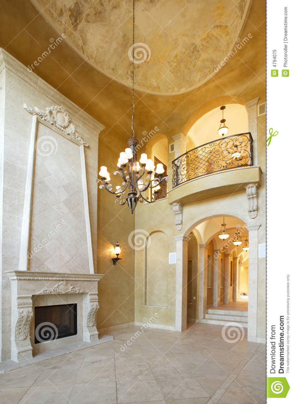 Fireplace in a luxury home stock image image of houses for Luxury fireplaces luxury homes