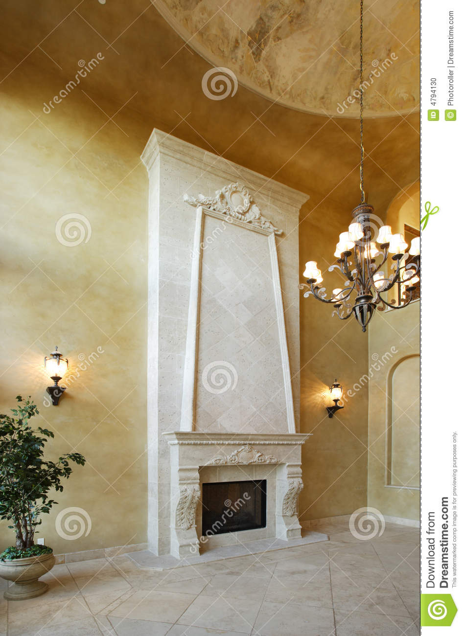 Fireplace In A Luxury Home Stock Photo Image 4794130