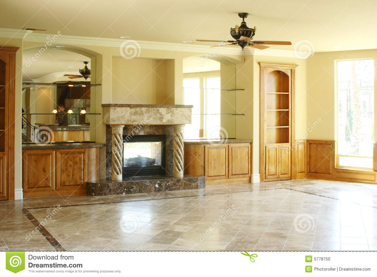 Fireplace In A Luxury Home Stock Photo Image 5778750