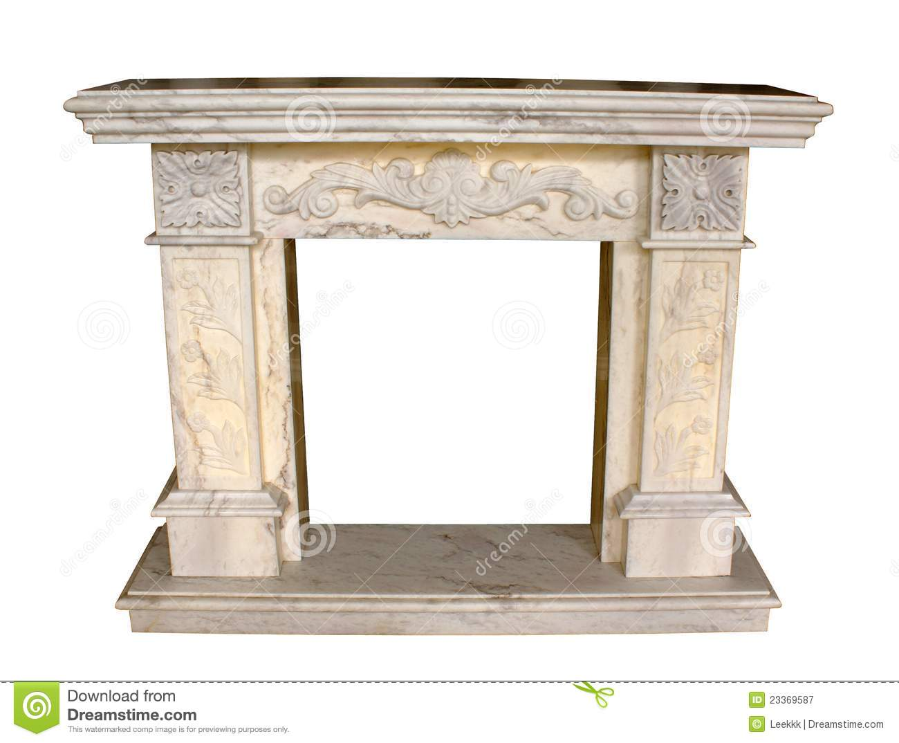 Fireplace Style Home Interior Royalty Free Stock