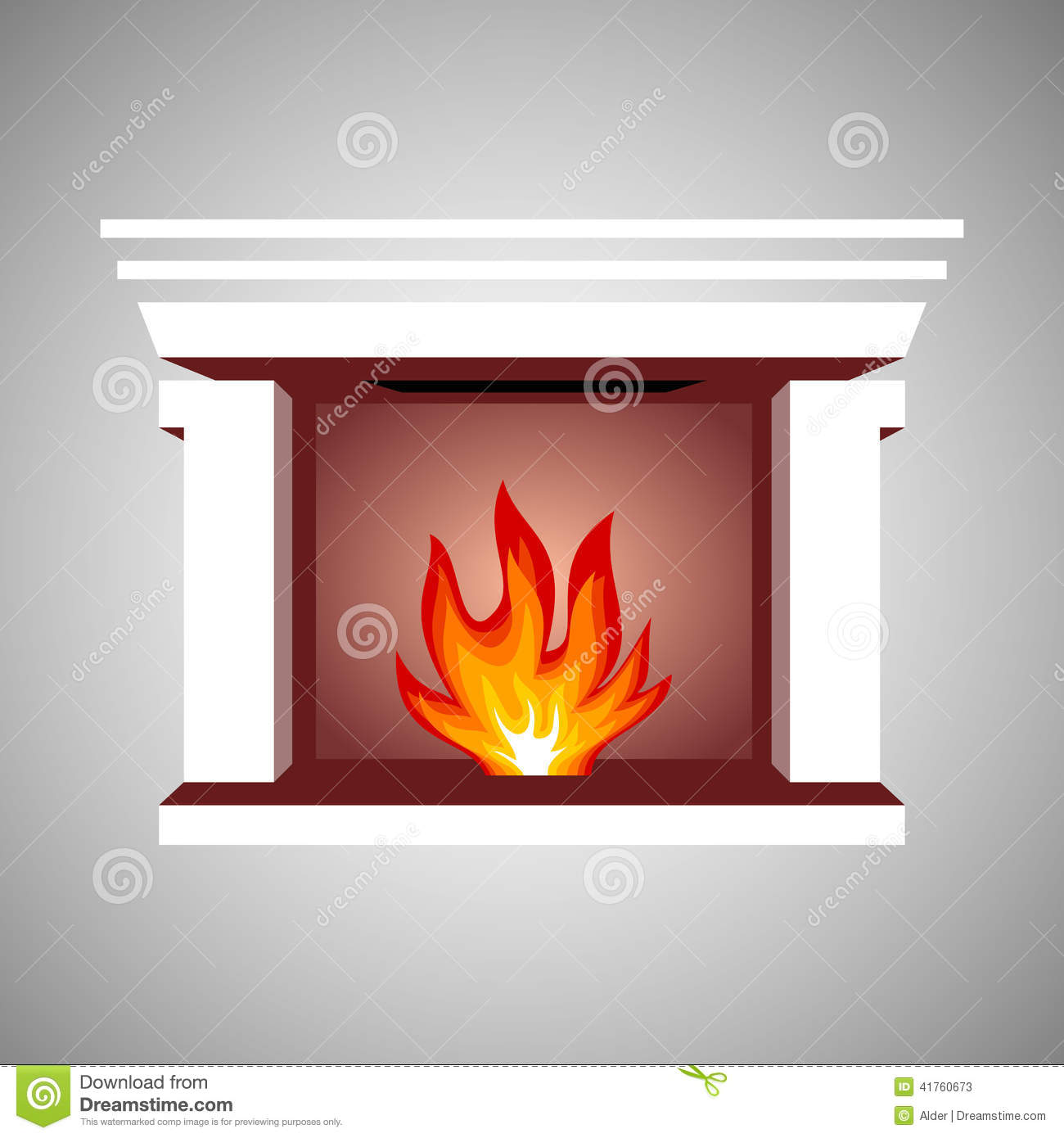 Fireplace Symbol Stock Vector - Image: 41760673
