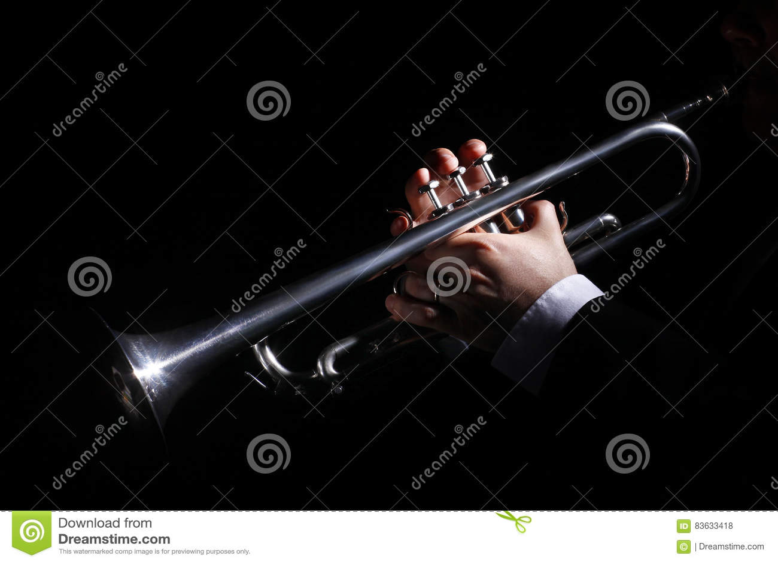 Fireplace, trumpet, music
