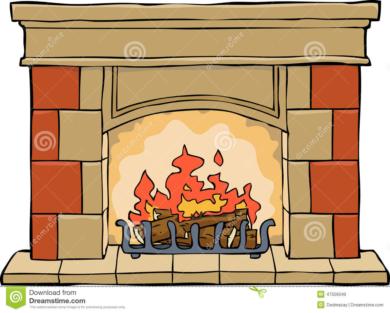 Stock Illustration Fireplace White Background Vector Illustration Image47556049 on log and stone house plans