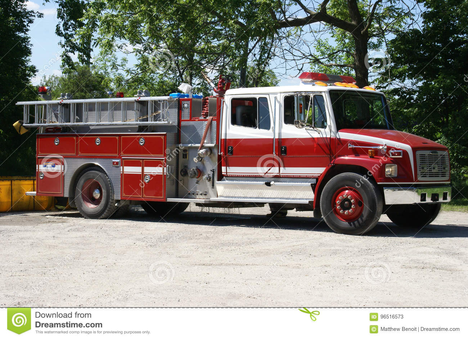 Firetruck prêt pour l urgence