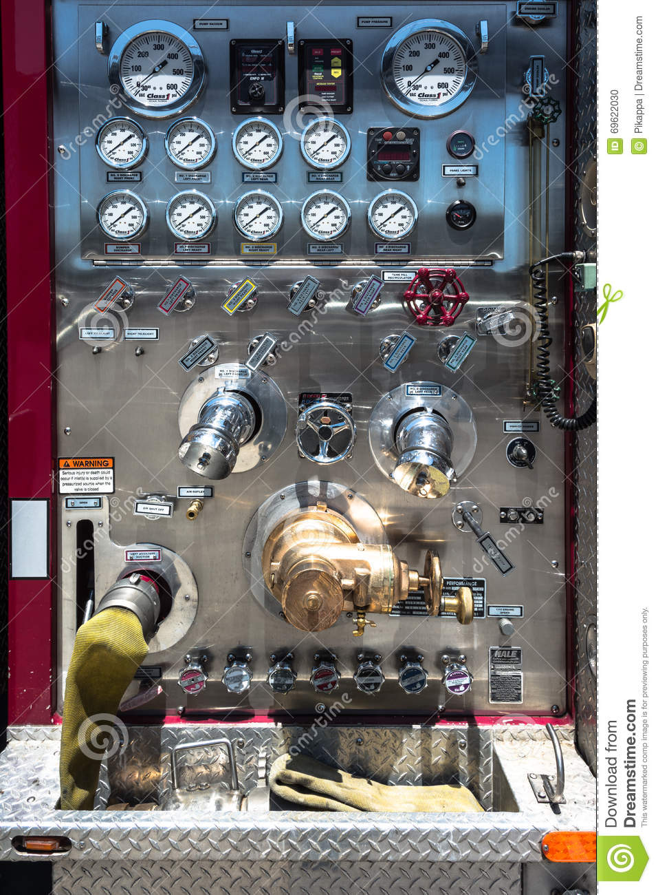 Pump It Up Prices >> Firetruck pump panel editorial image. Image of control ...
