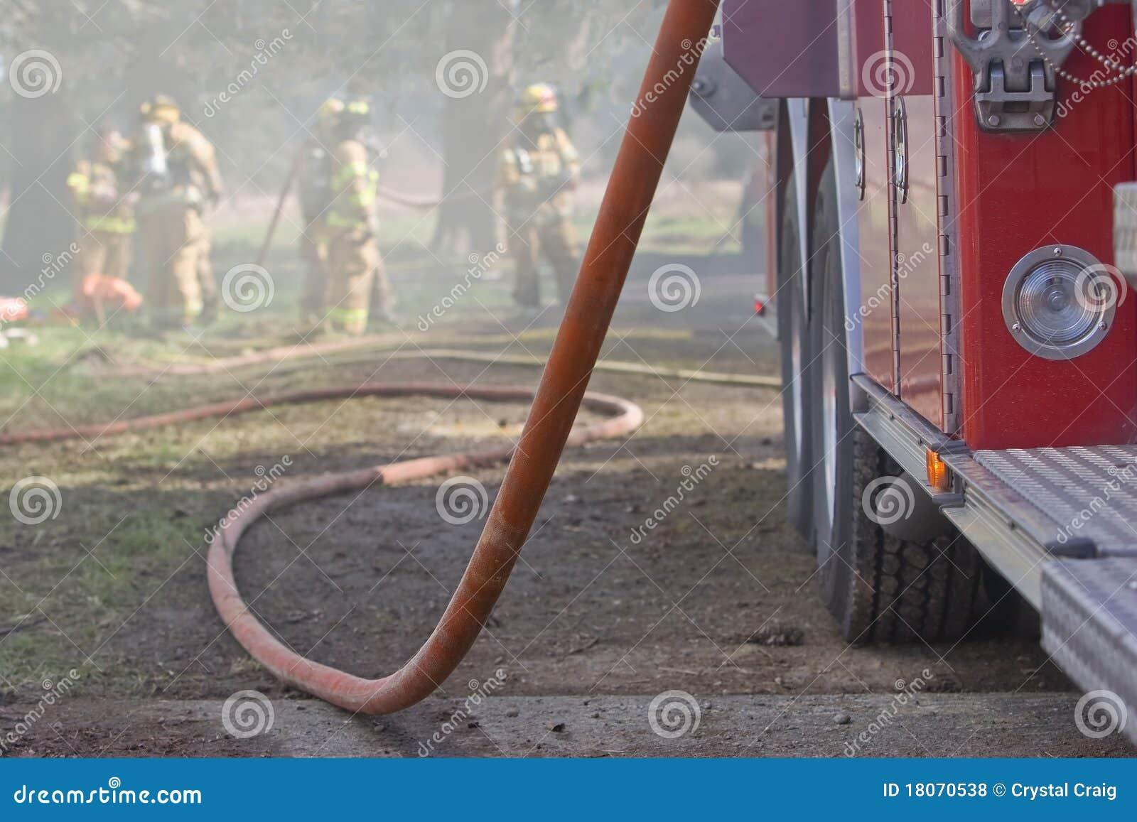 Firetruck und Schlauch
