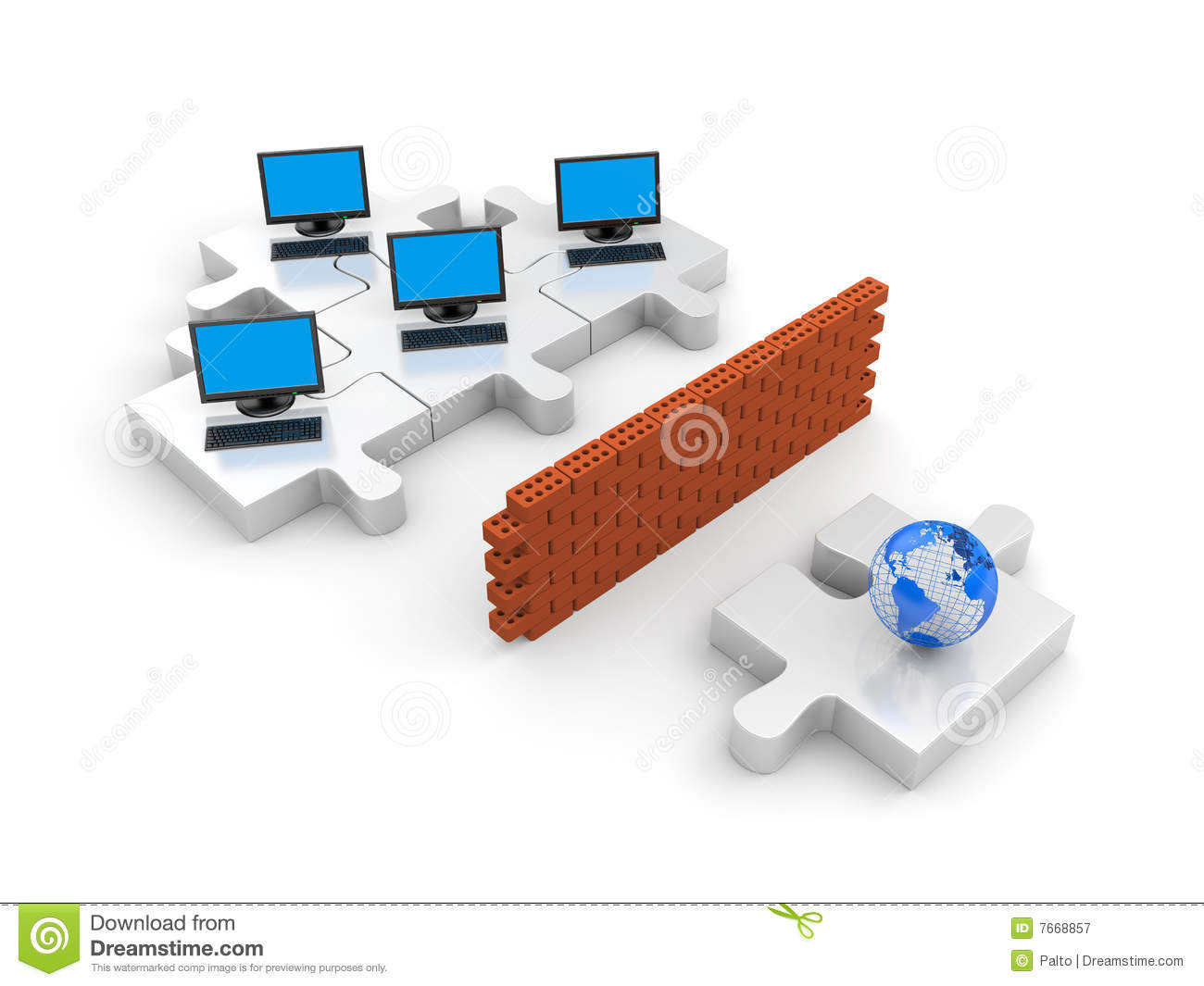 Firewall. Information Security Concept Royalty Free Stock ...