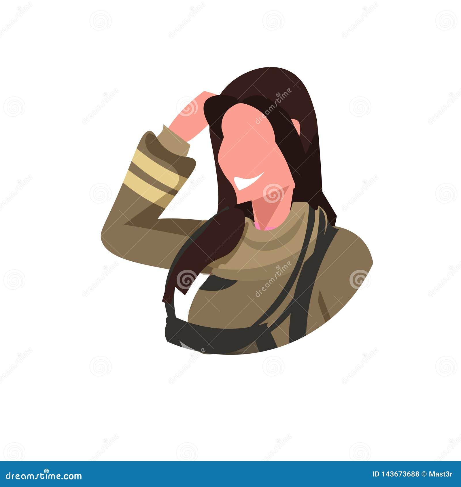 Firewoman в мультфильме равномерного работника пожарного депо концепции занятия пожарного женщины воплощения стороны профессионал