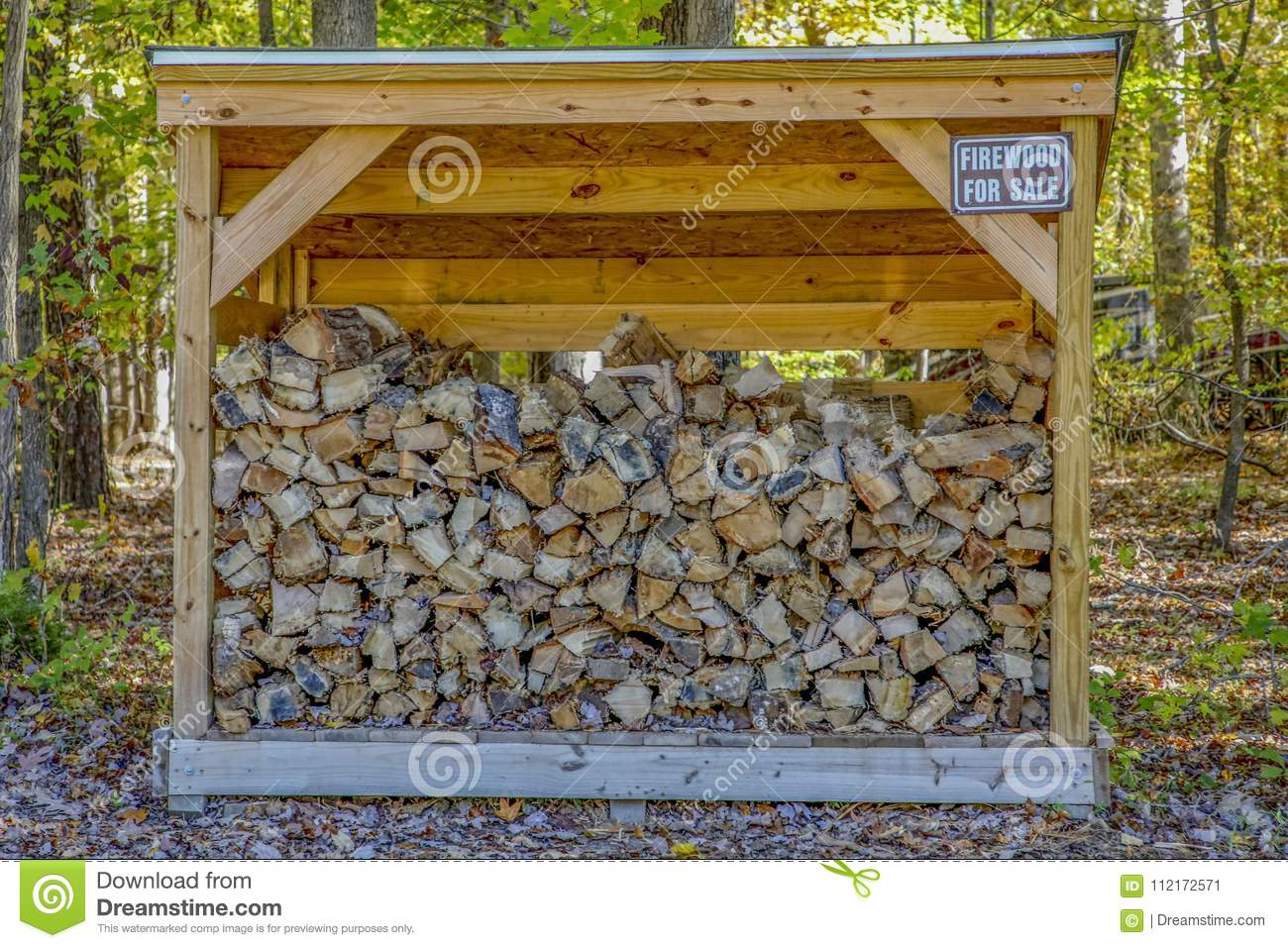 Firewood for camping stock image  Image of campground