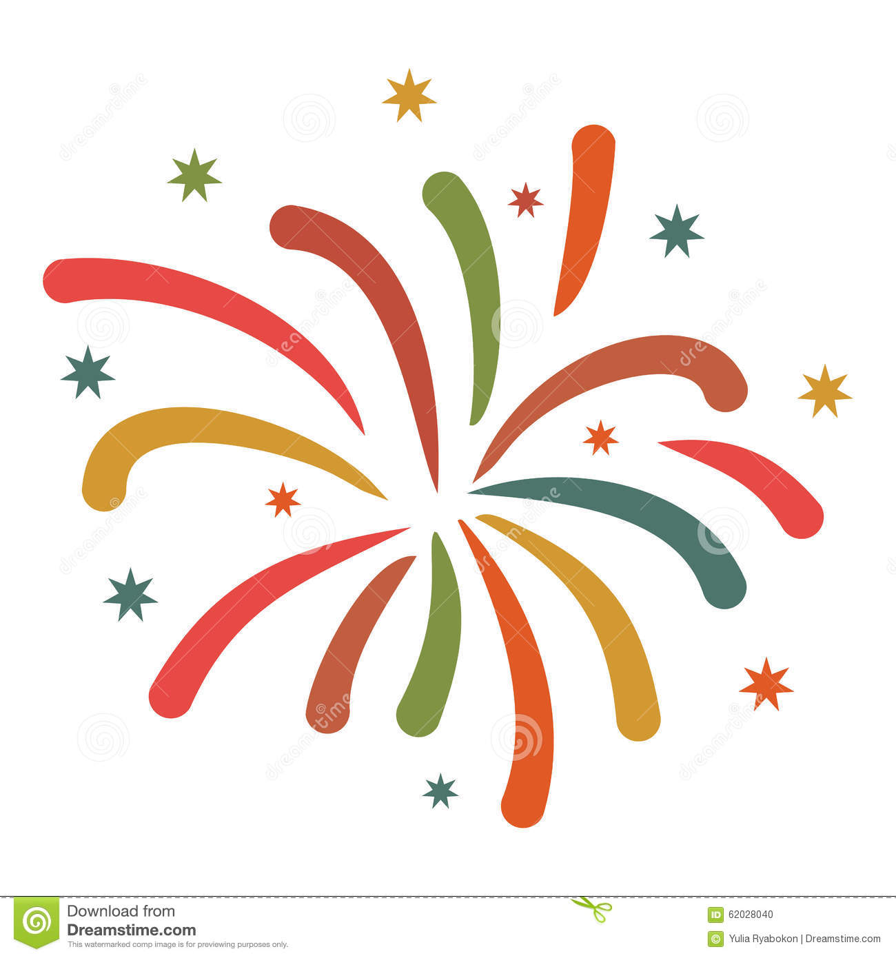Firework flat icon stock vector. Illustration of creative ...Fireworks Icon Image