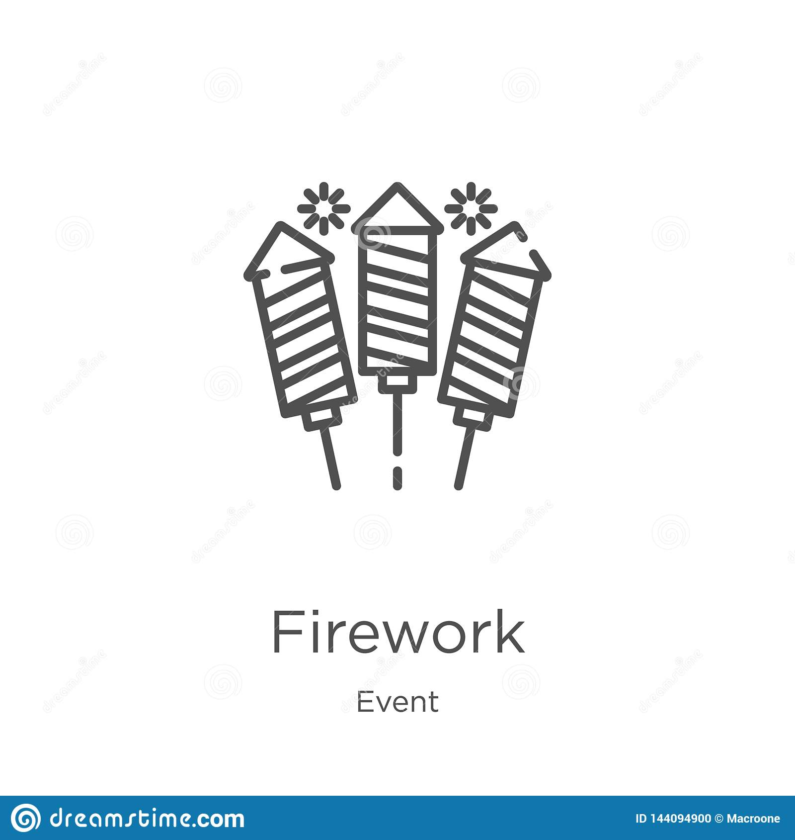 Firework Icon Vector From Event Collection  Thin Line