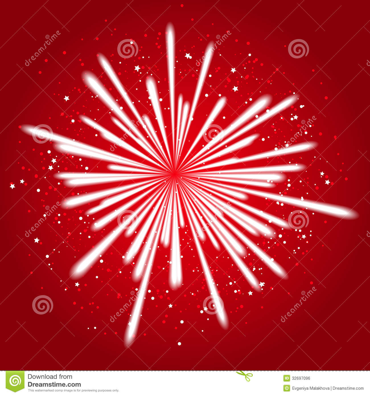Star Light Star Bright >> Firework on red stock vector. Image of illuminated, dark - 32697096