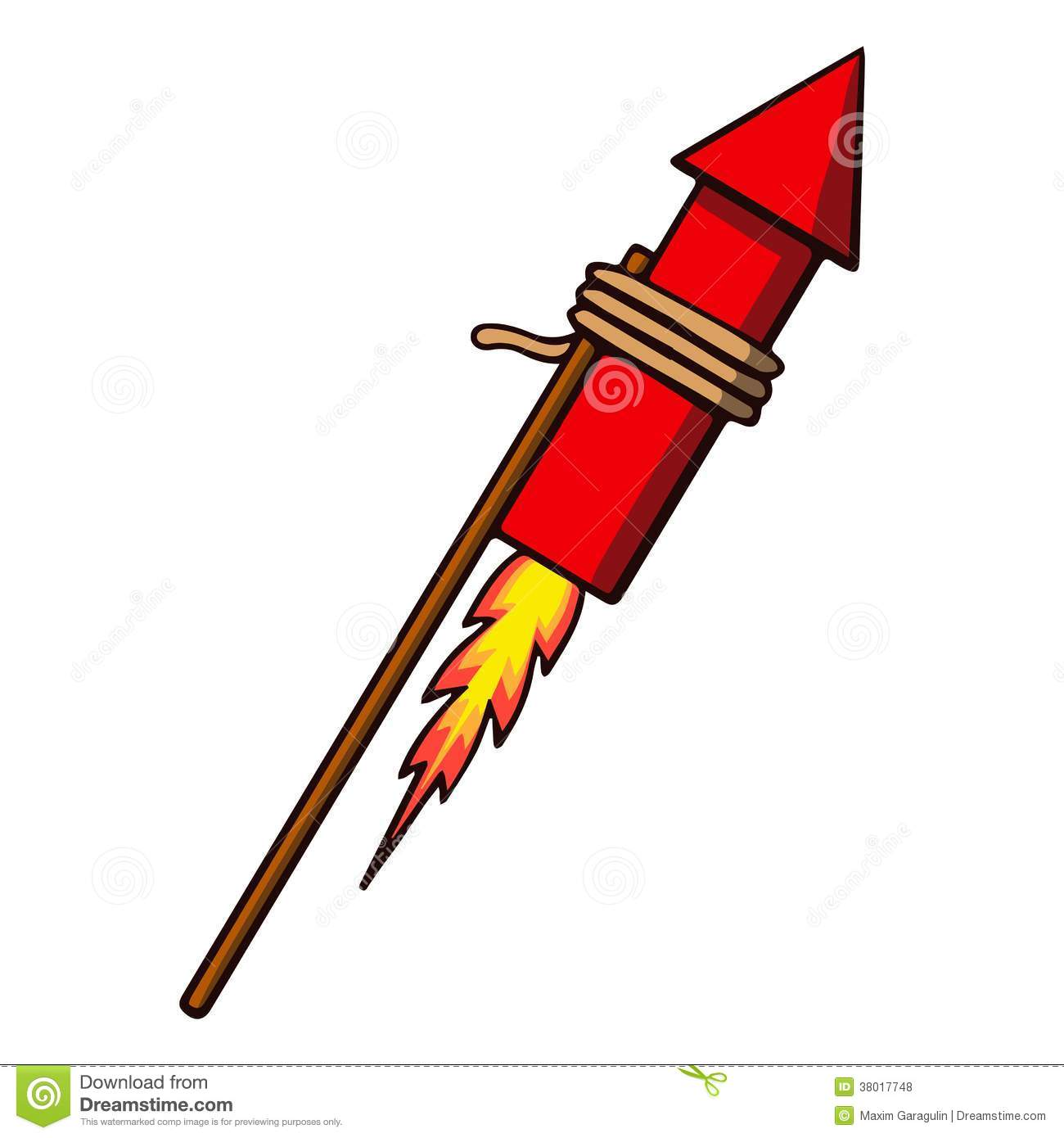 Firework Rocket. Vector Illustration Royalty Free Stock Photos - Image ...