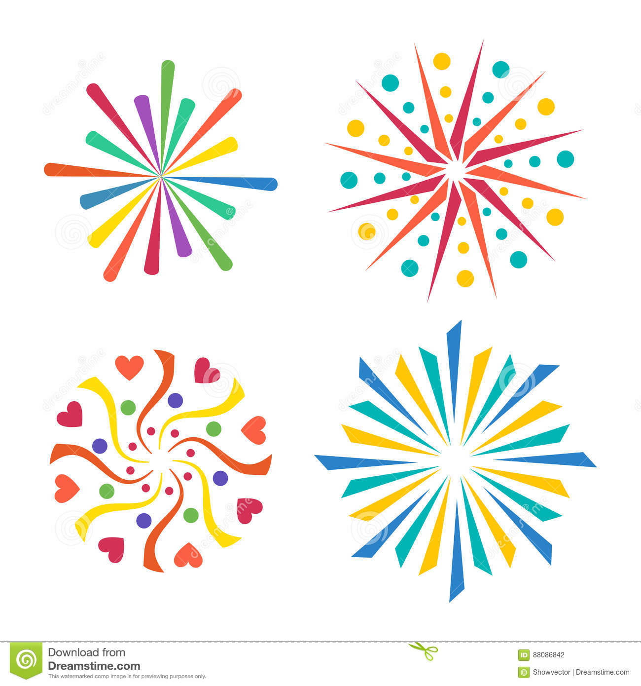 firework vector icon isolated illustration celebration holiday event night new year fire festival explosion light