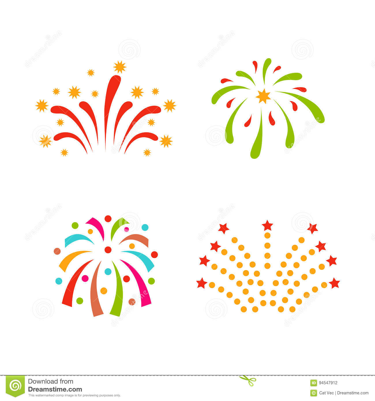 firework vector icon isolated illustration celebration holiday event night new year fire festival explosion light festive party fun birthday bright
