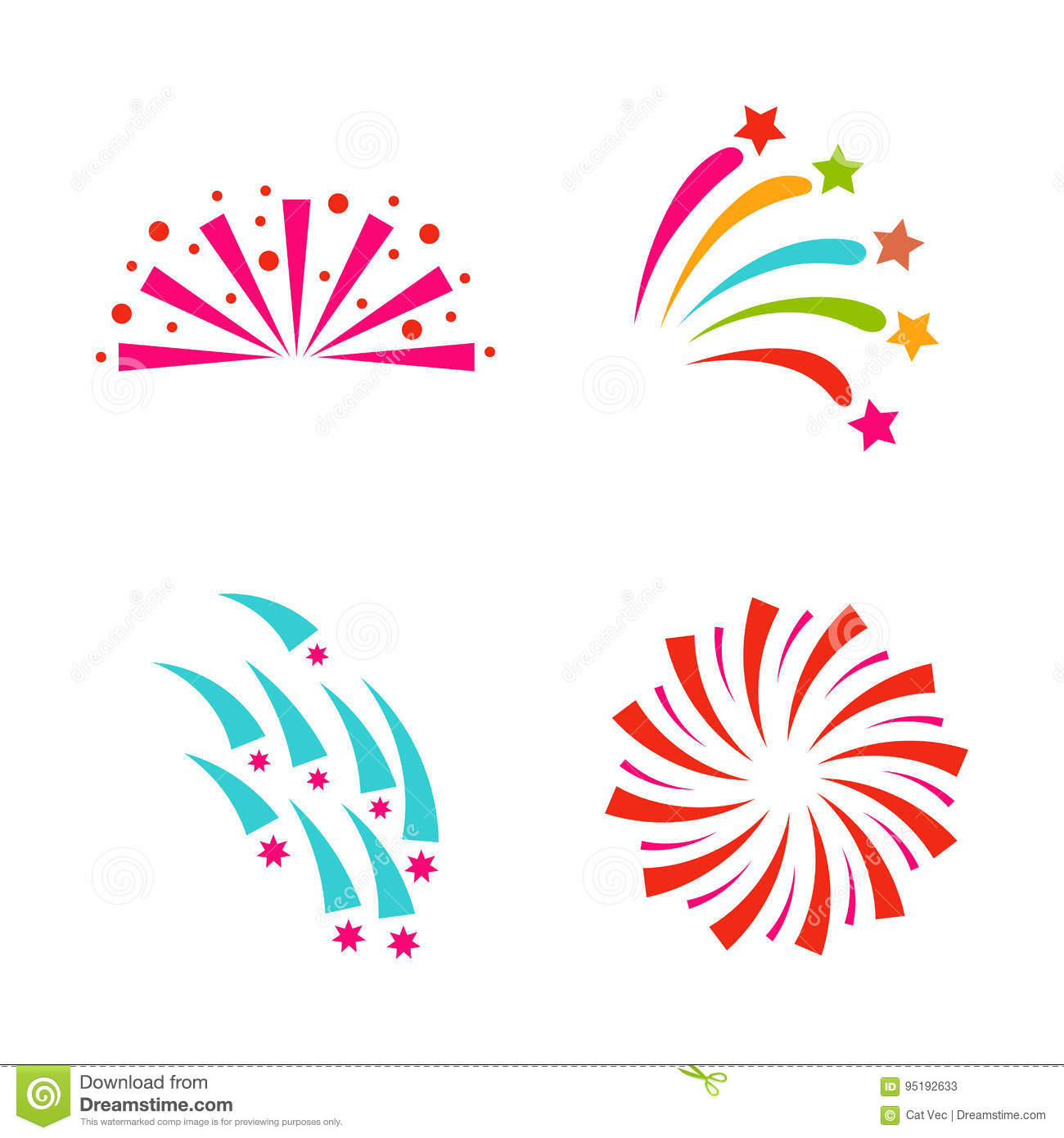 firework vector illustration celebration holiday event night explosion light festive party