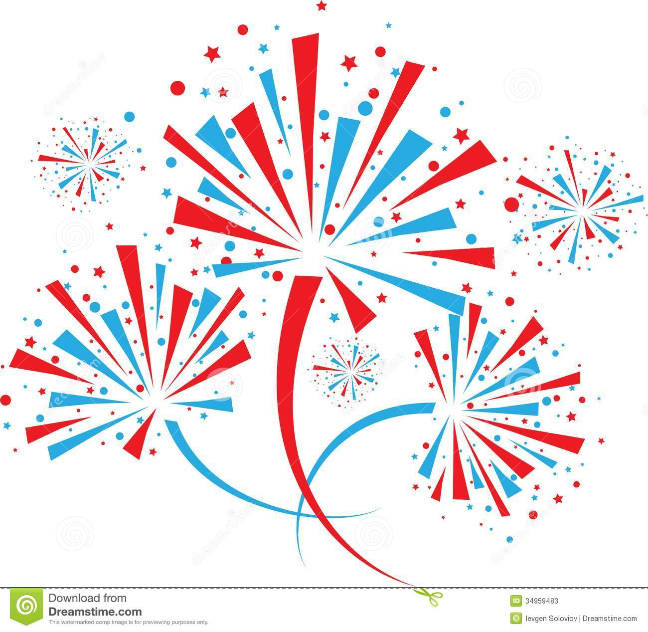 Firework On White Stock Photos Image 34959483