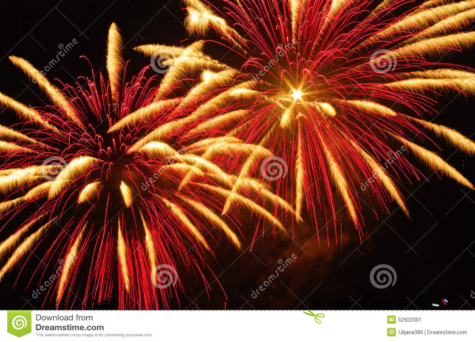 Download Fireworks stock image. Image of color, dark, explode - 52922301