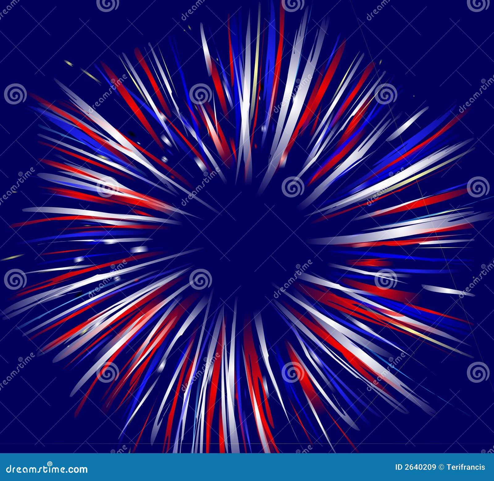 Fireworks On Blue Stock Illustration Illustration Of Patriotic