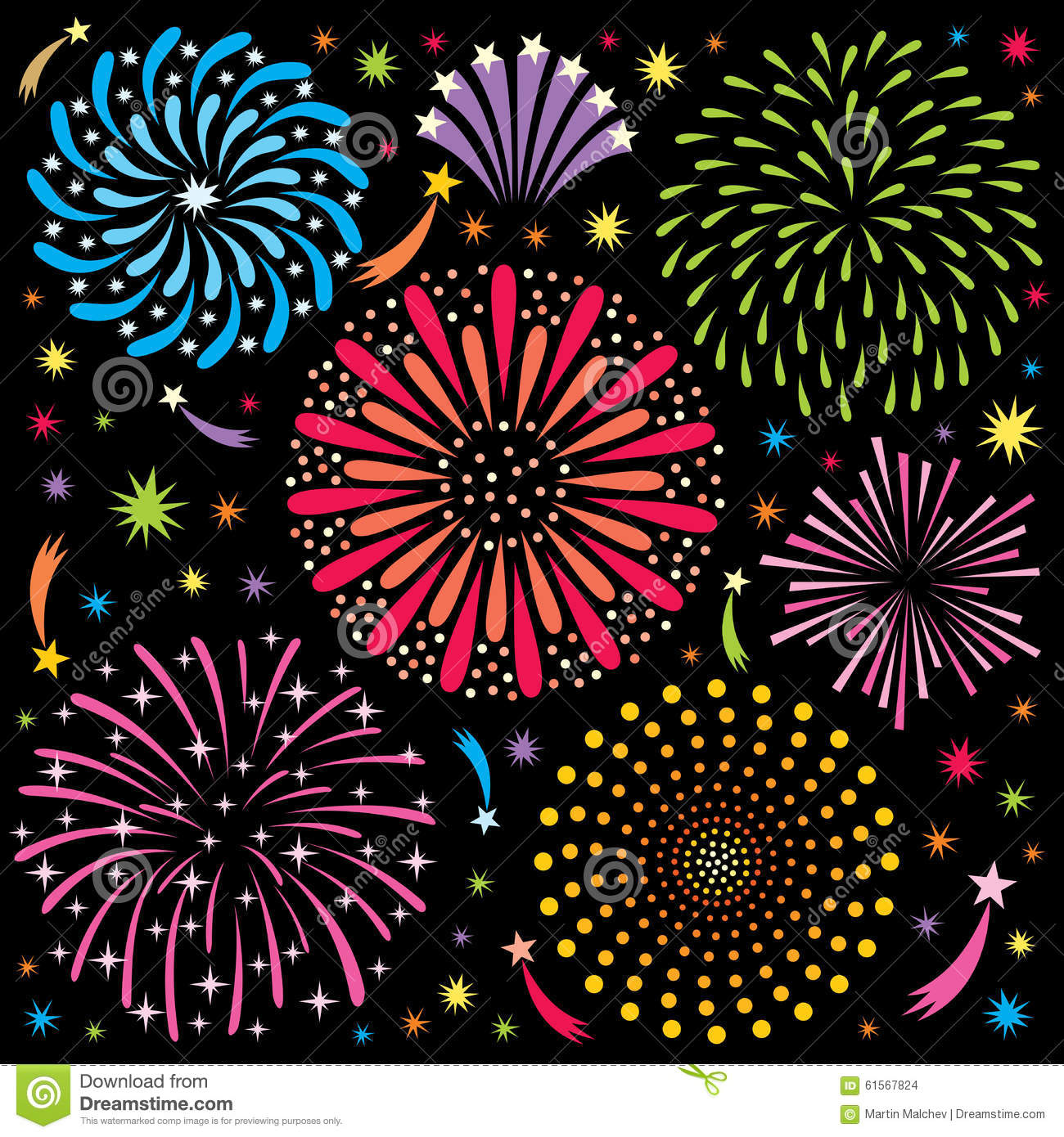 Fireworks 2 Stock Vector Image 61567824