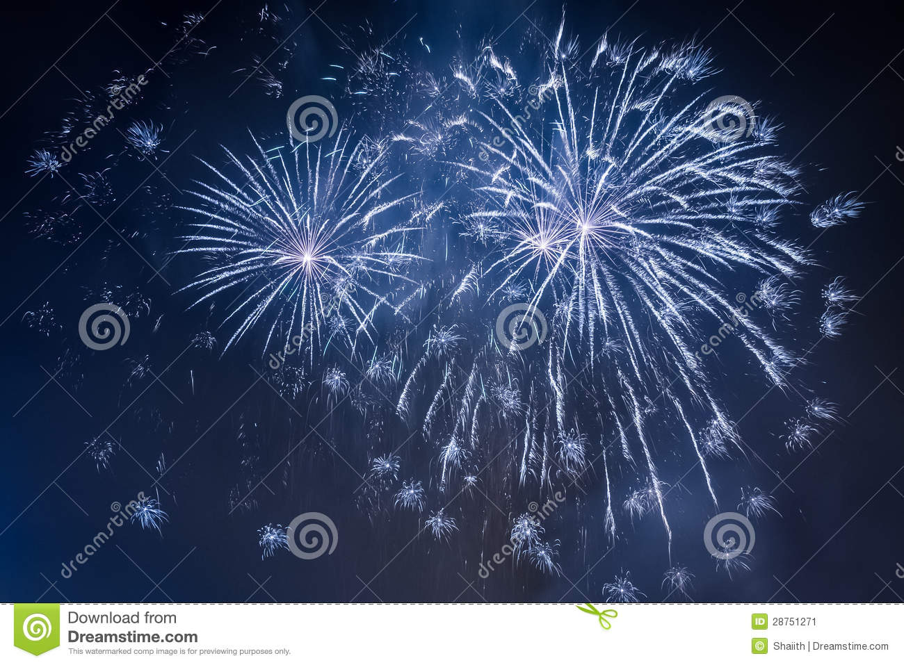 Fireworks during the celebrations event