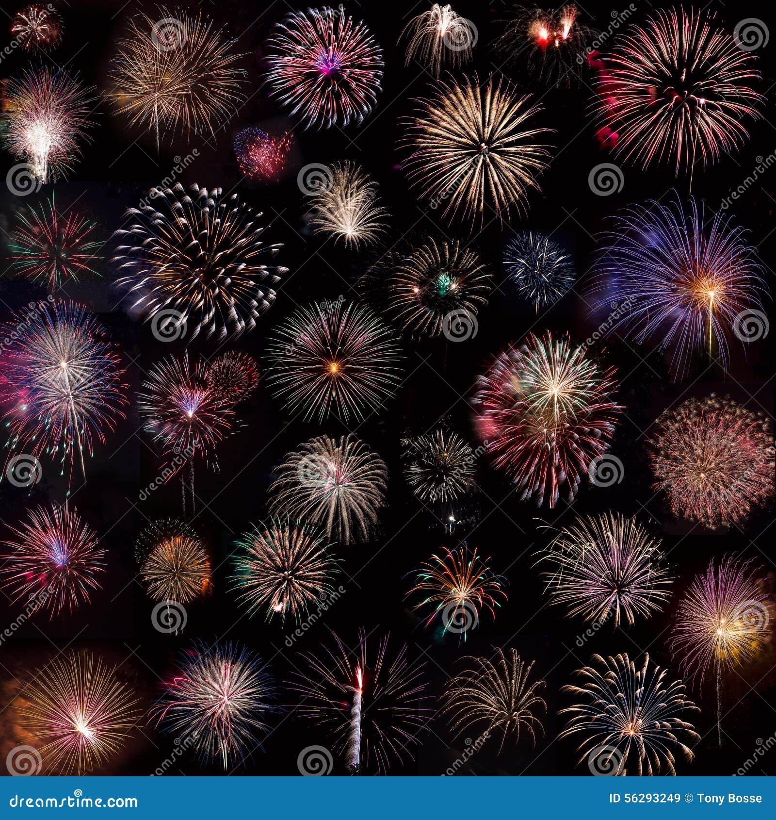 Fireworks Collage