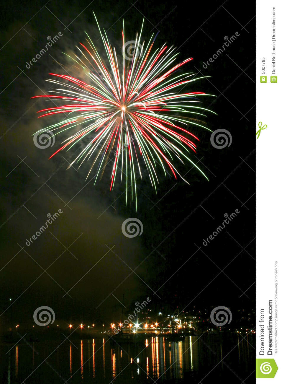 Download Fireworks Exploding At Night Stock Image - Image of display, harbor: 5007785