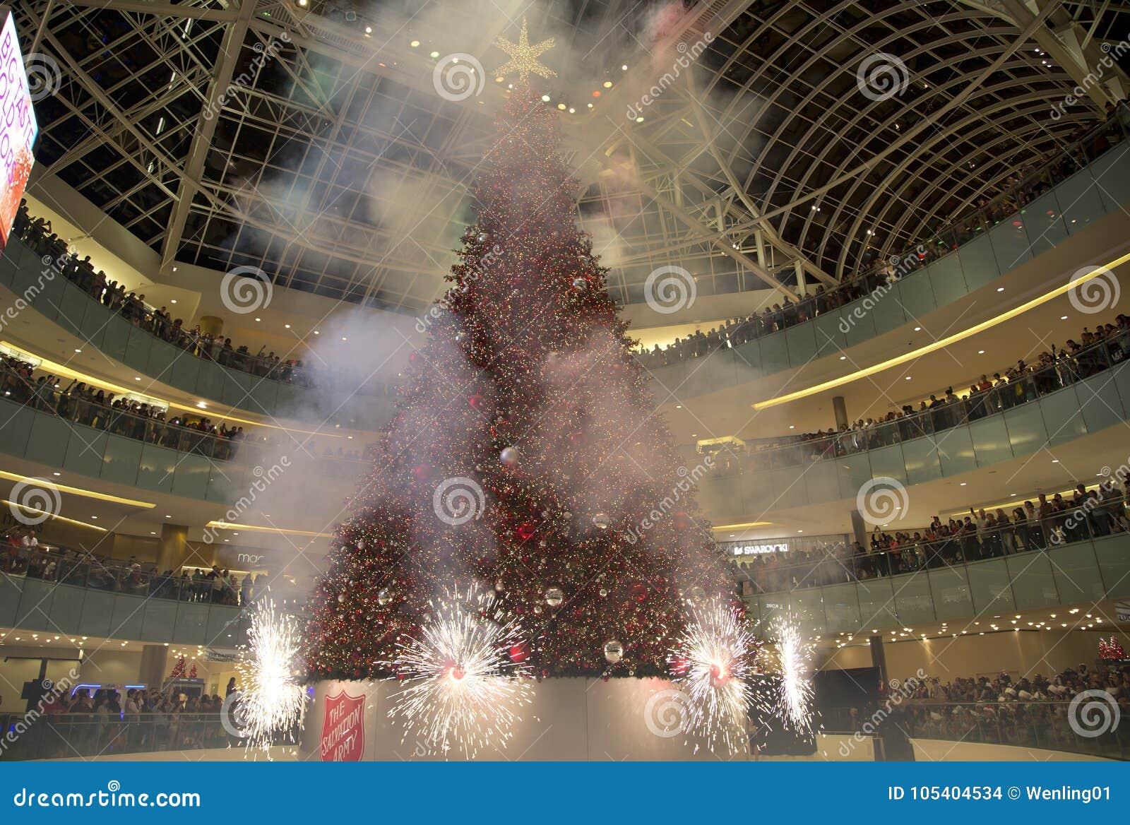 firworks on grand tree lighting celebration feat galleria editorial