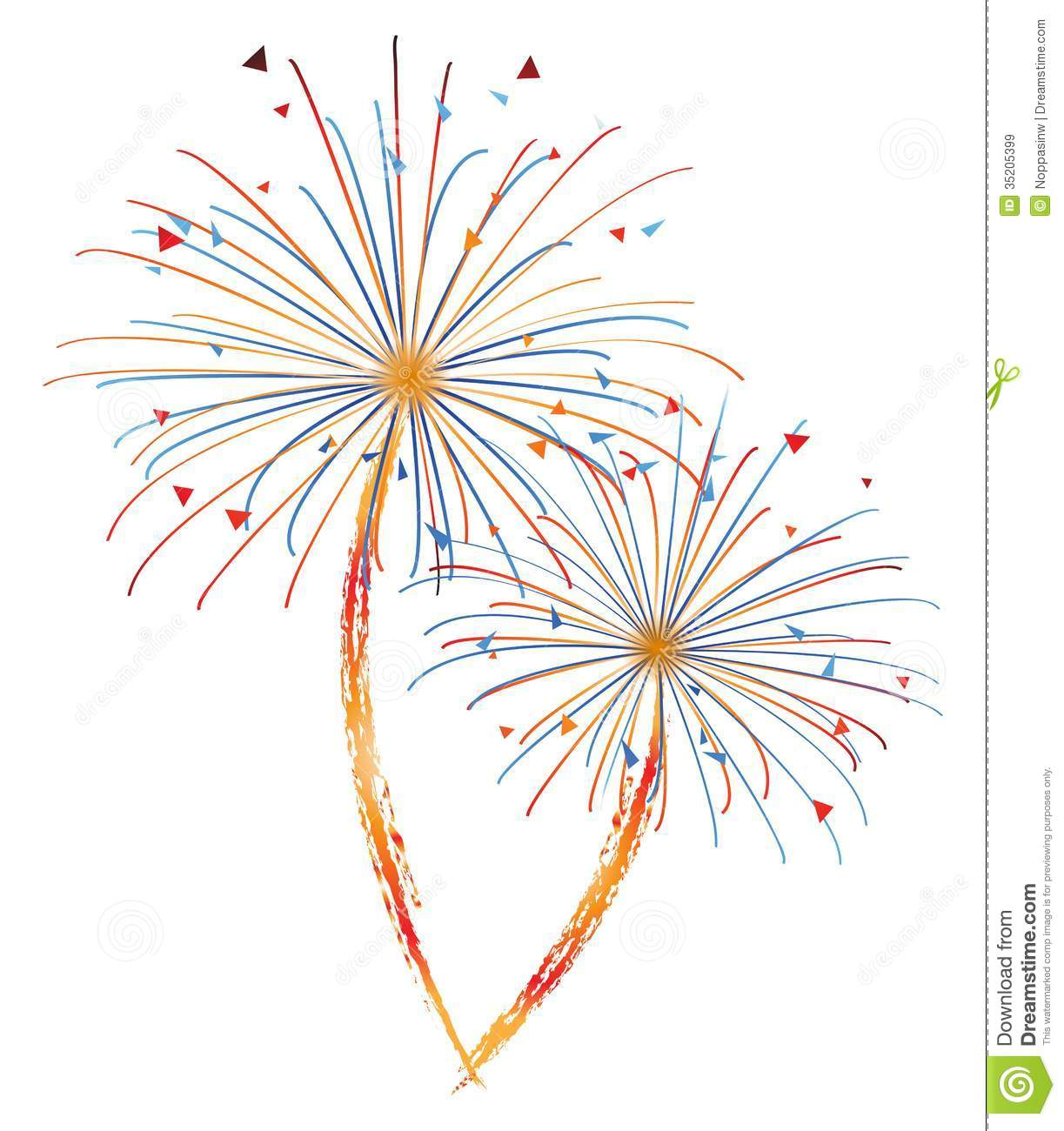 Fireworks Vector Stock Illustration Of Holiday
