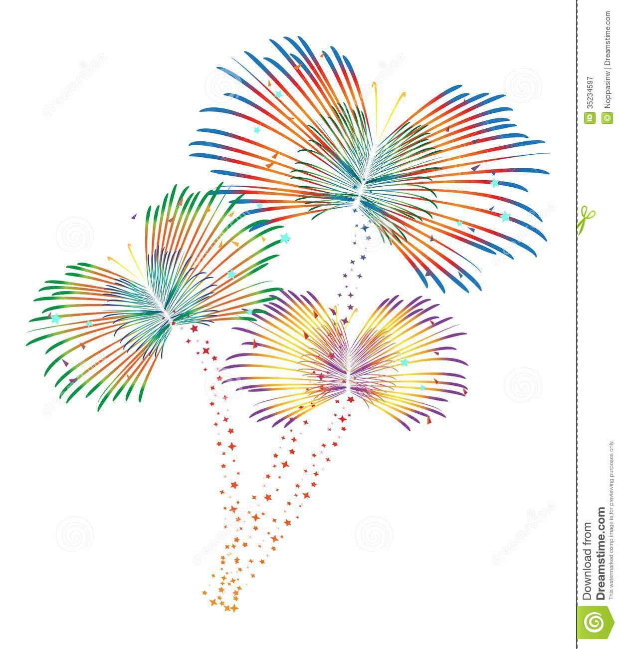 Download Fireworks Vector Stock Illustration Of Happy