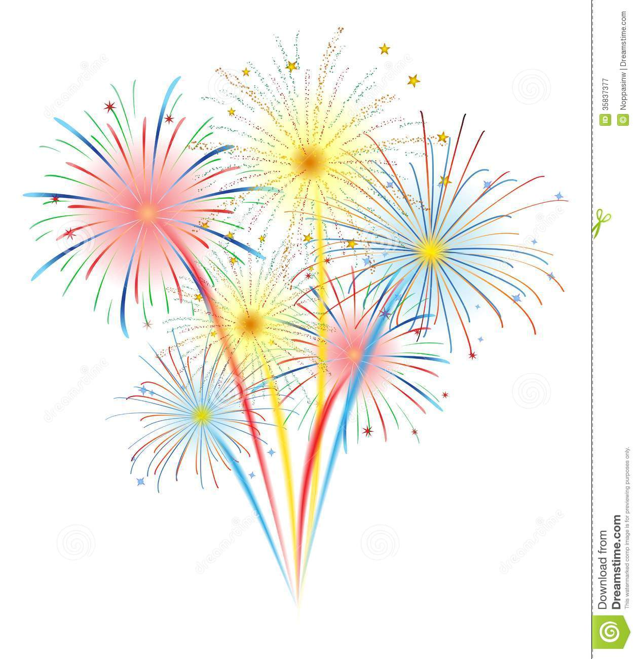 Fireworks Vector Royalty Free Stock Photography - Image: 35837377