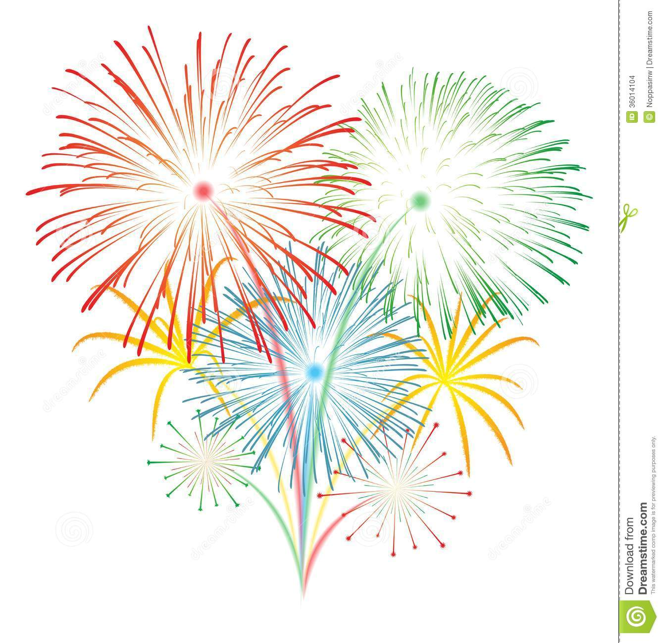 New Years Fireworks Clipart fireworks vector stock images - image ...