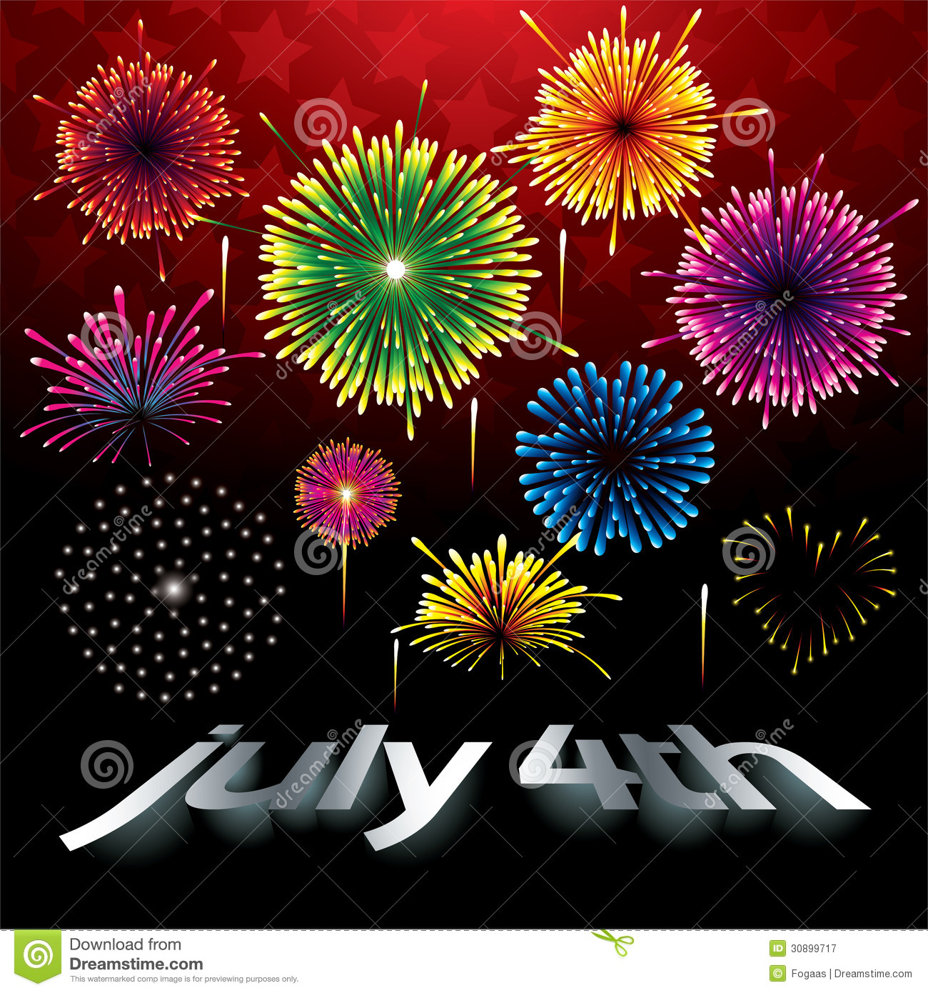 fireworks at the independence day royalty free stock