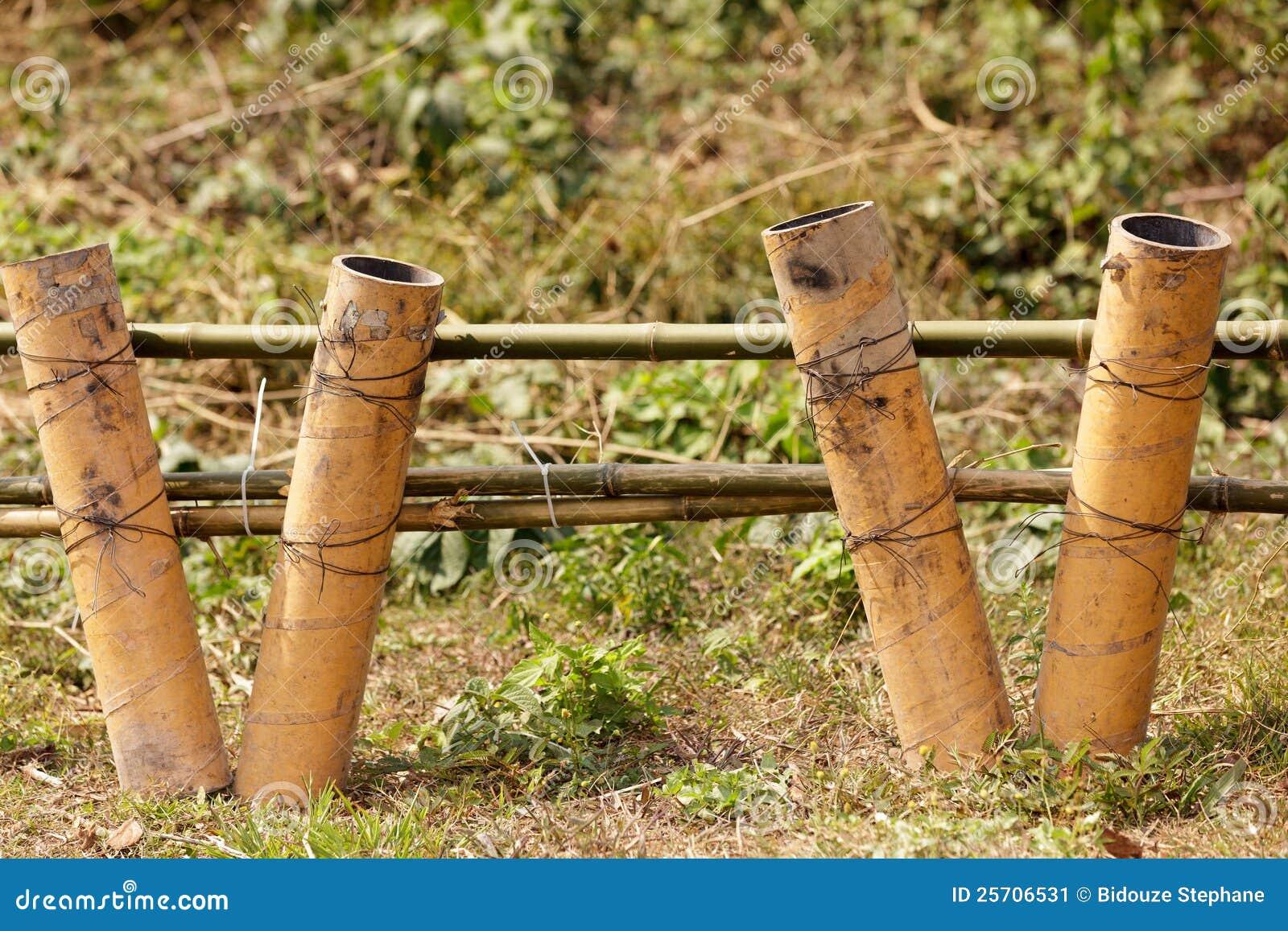 Mortar In Field : Fireworks mortars stock image