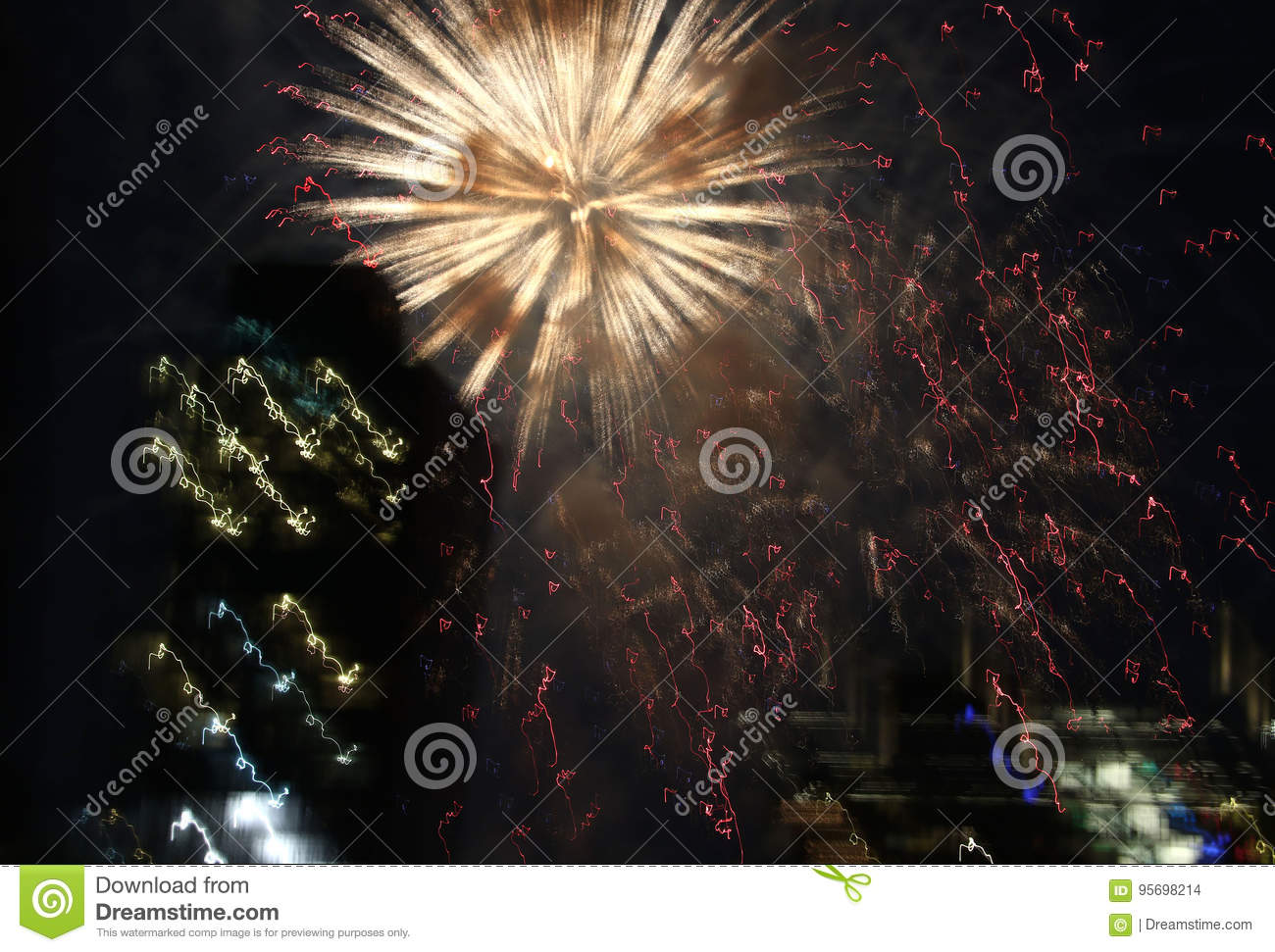download fireworks over new york city stock photo image of july backgrounds 95698214