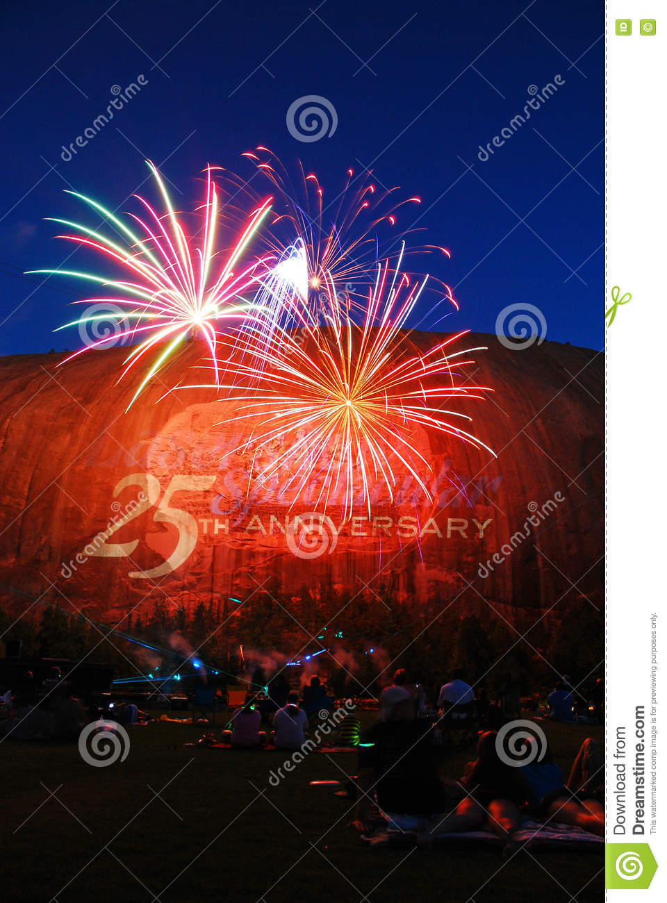 fireworks over stone mountain stock photo image of explode honour