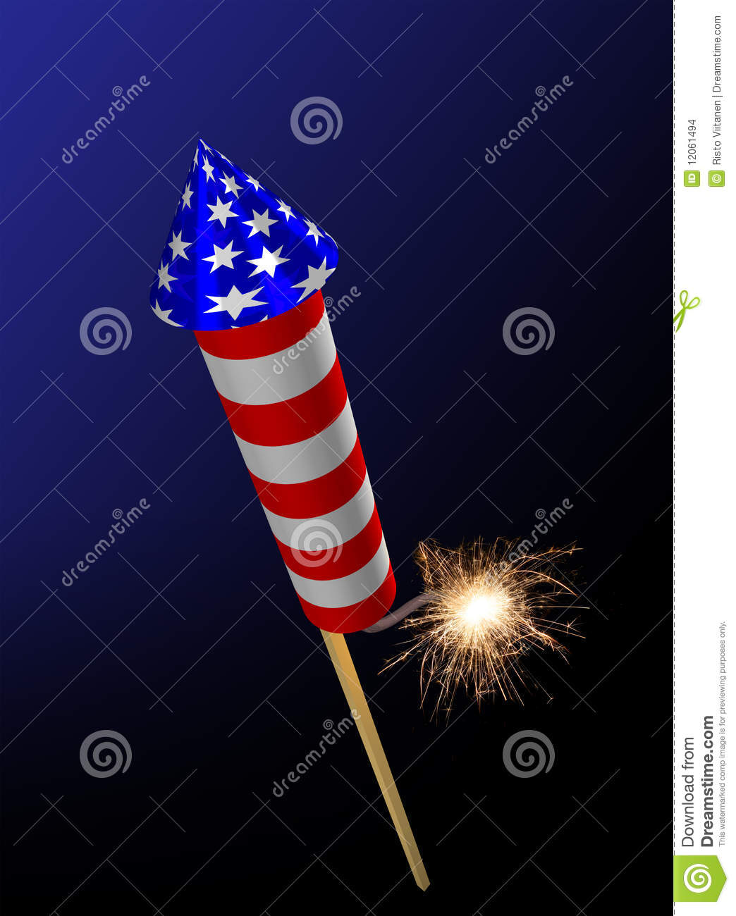 fireworks rocket fuse burning stock images image 12061494 Firecracker Silhouette Fourth of July Firecracker Clip Art