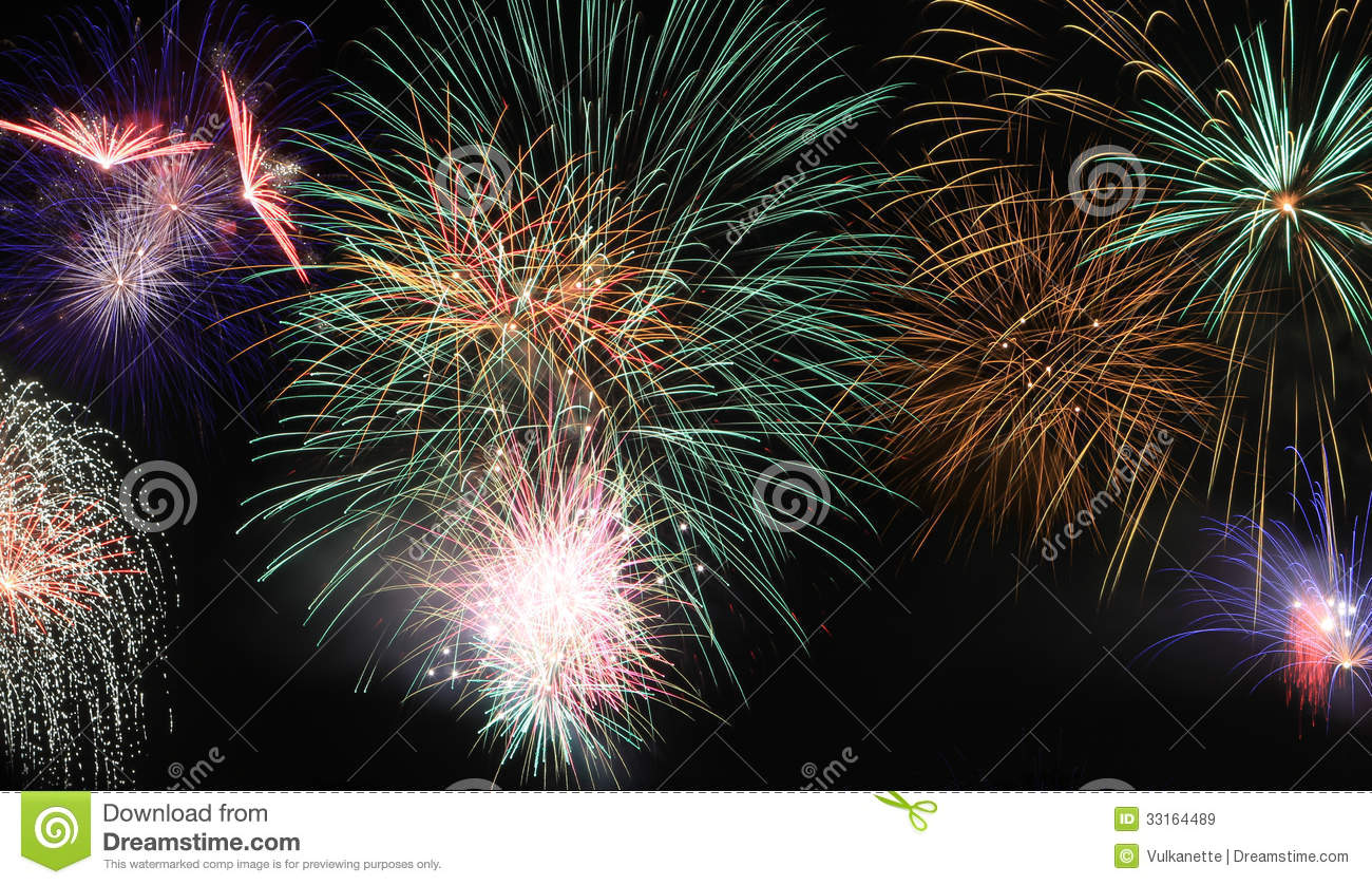 Fireworks Scene As Background Royalty Free Stock Images ...