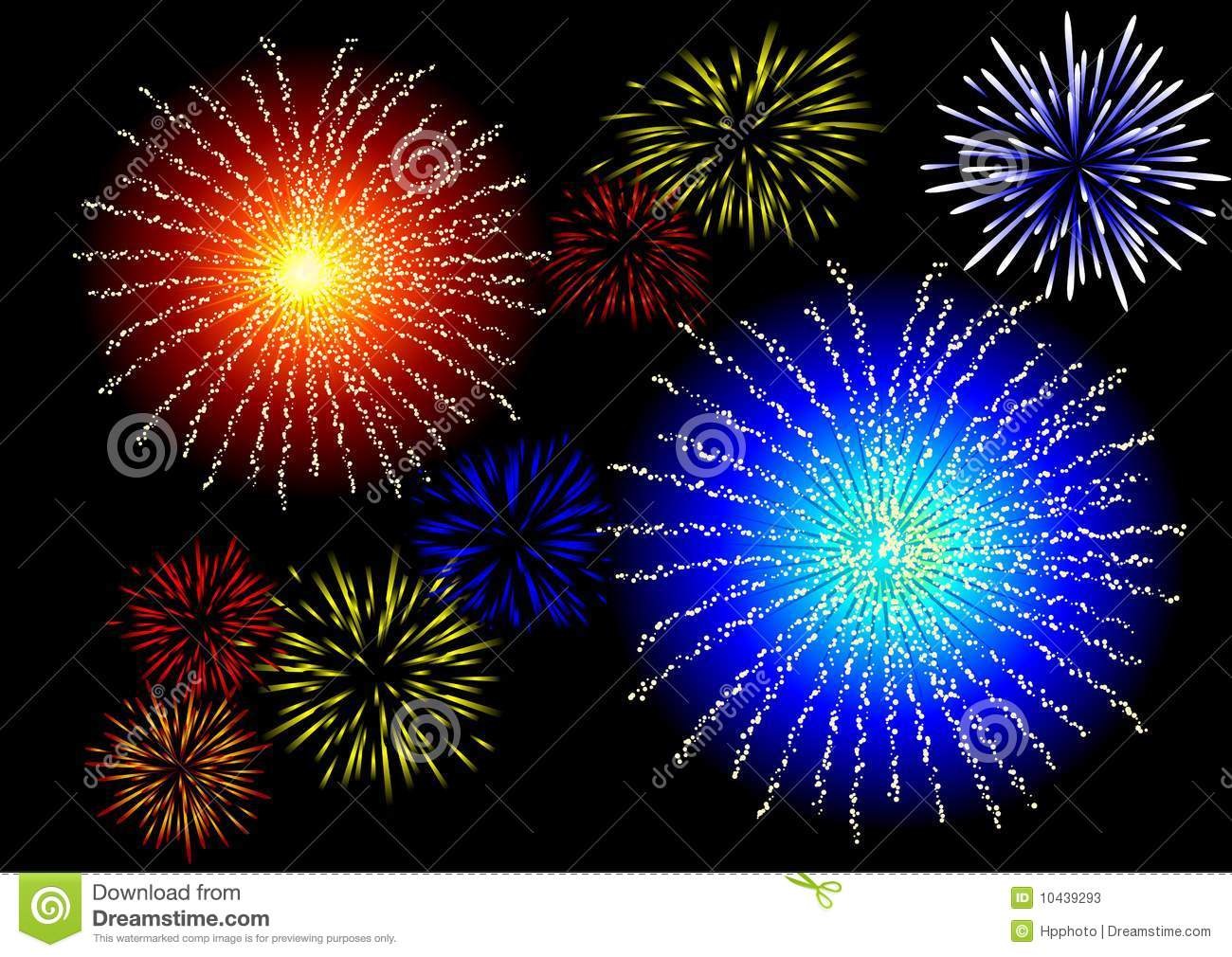 Fireworks In The Sky Stock Photos Image 10439293