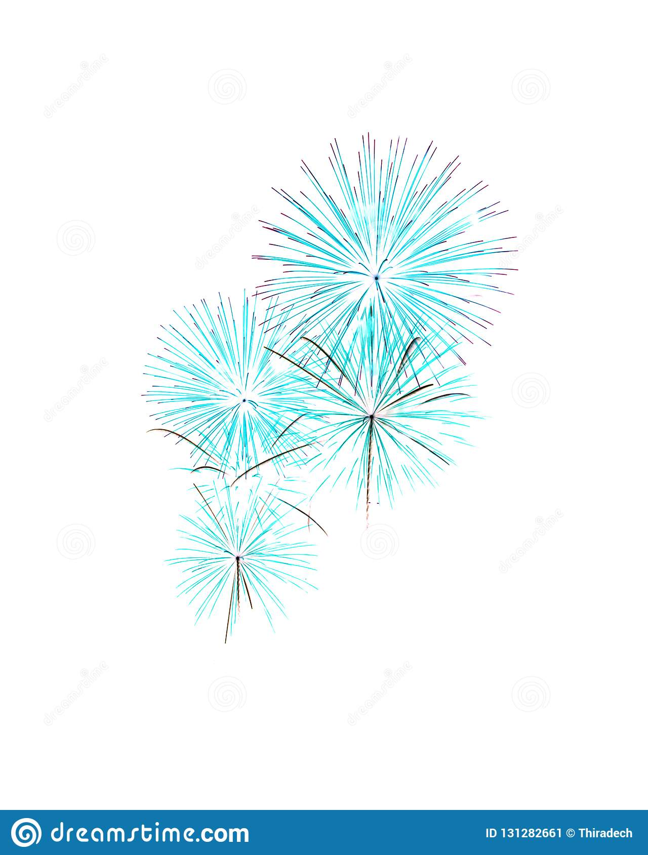 Fireworks White As Background Or Wallpaper. Stock Image ...