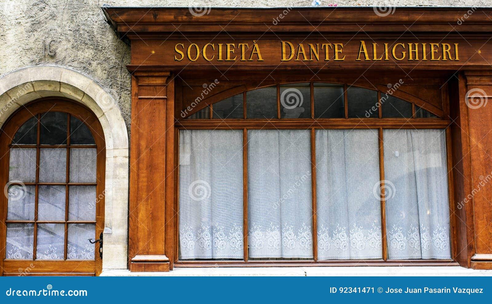 Firma Dante Alighieri w ulicie Perron