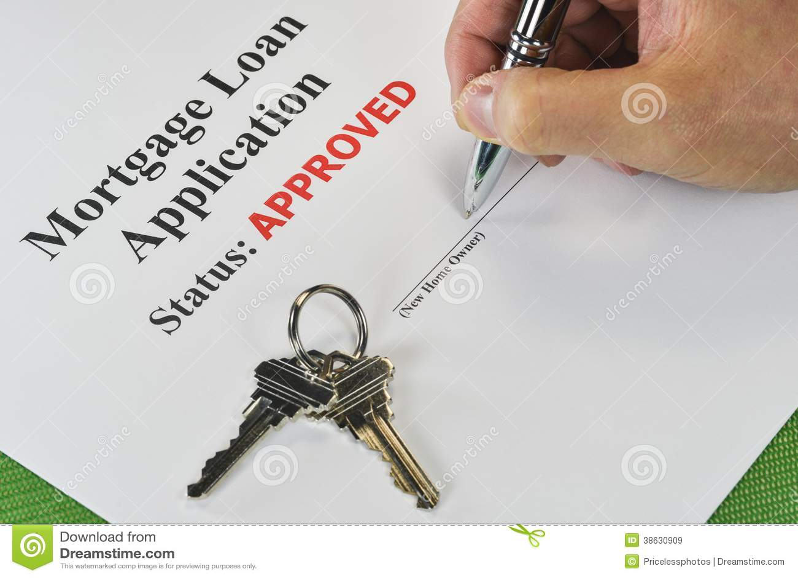 Firma del mutuo ipotecario approvato di Real Estate