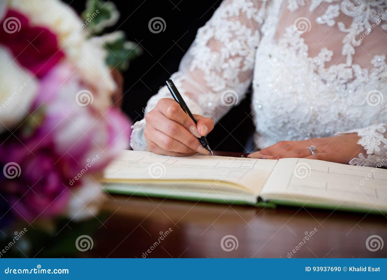 5de32e042276 Certificato di firma dell Ufficiale di stato civile di matrimonio della  sposa