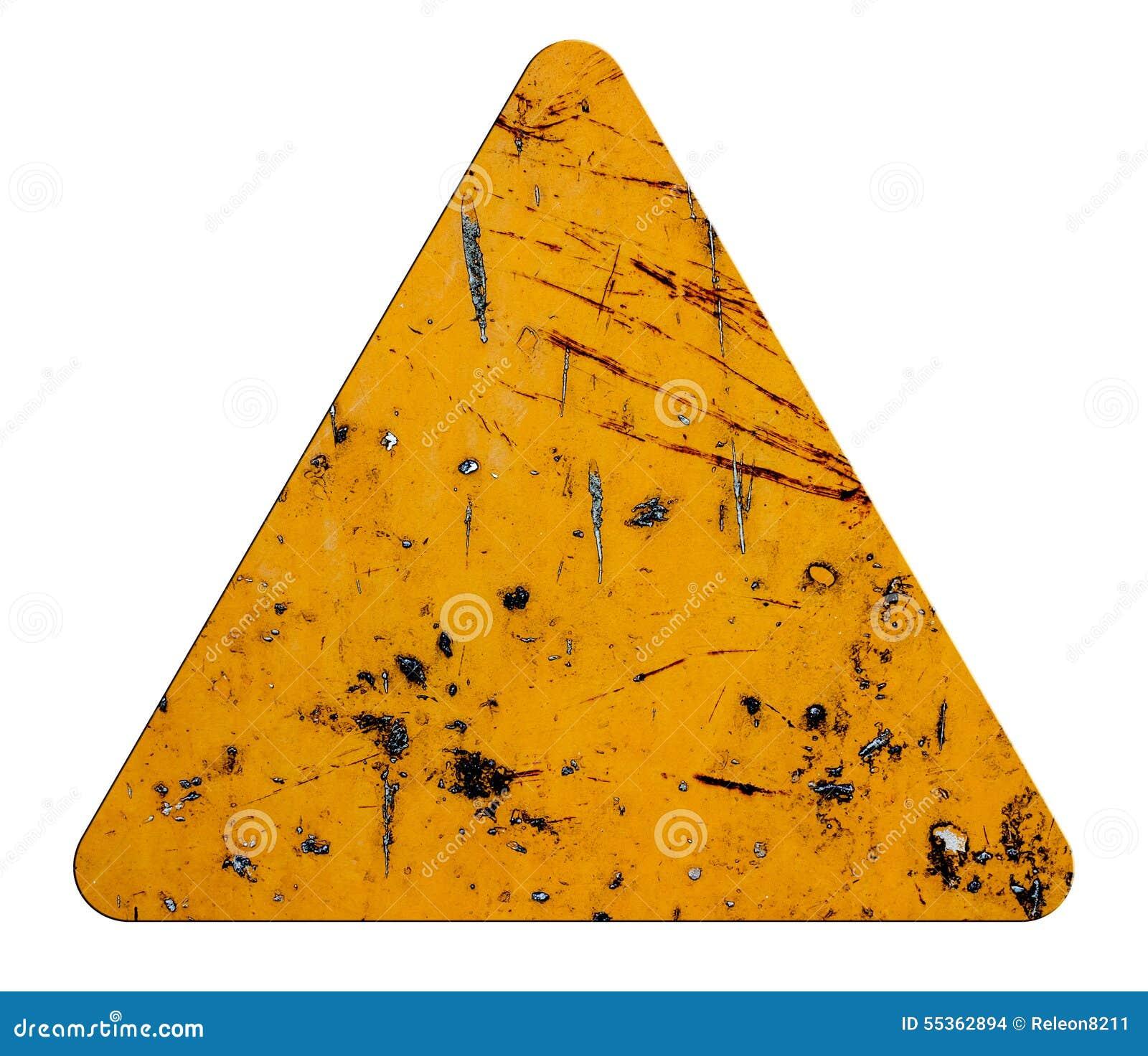 Firma triangolare arancio dell icona