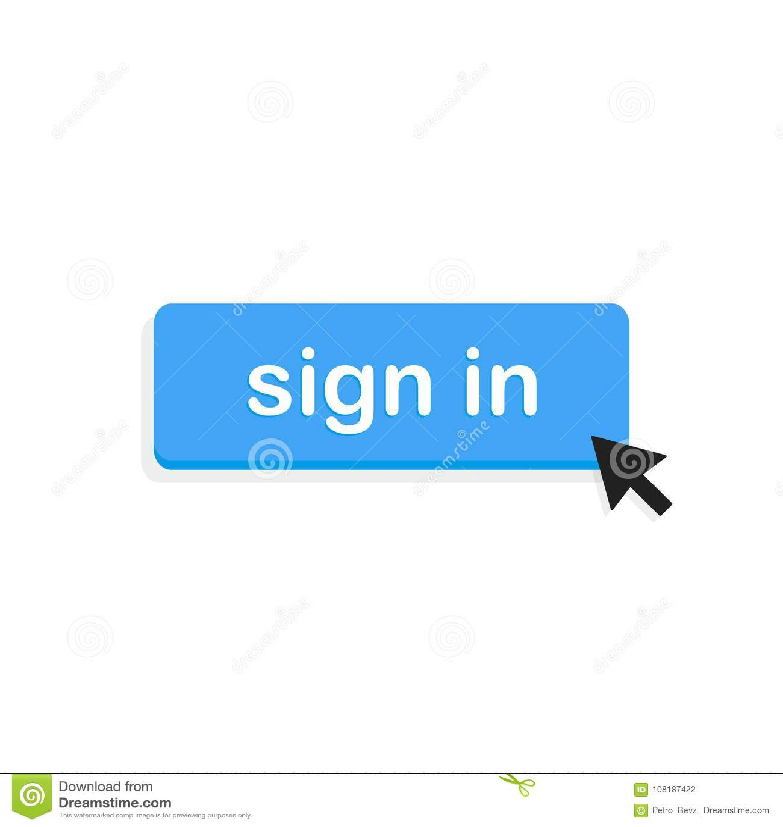 Firme adentro el botón, ejemplo del vector